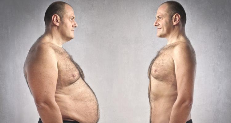 太ってる男性と痩せている男性