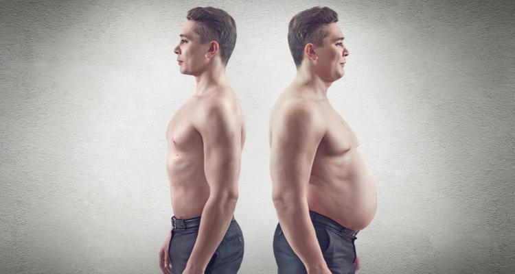 太っている男性とスリムな男性