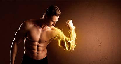 筋肉質の男